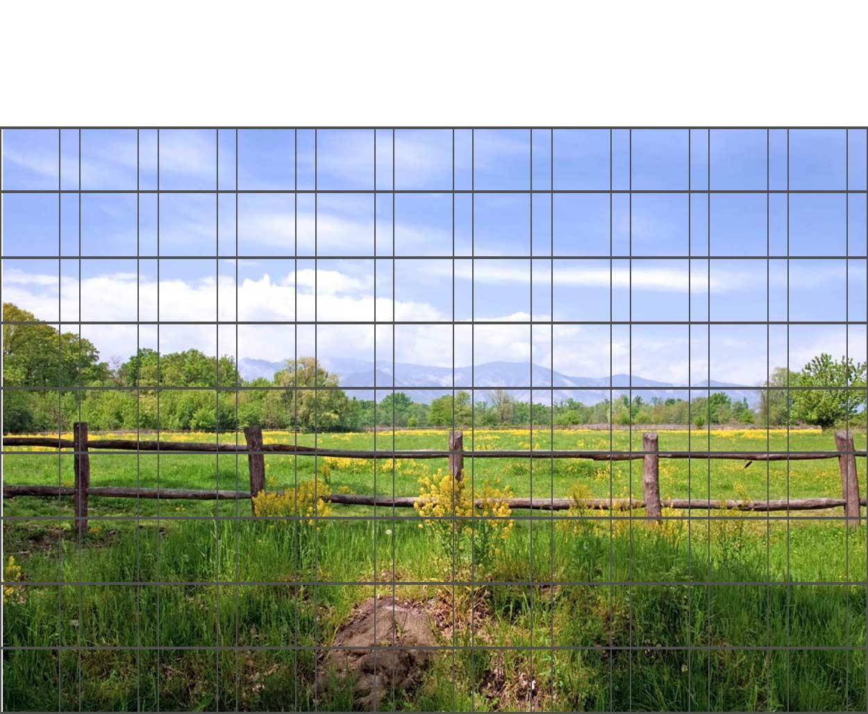 Bedruckter Zaun Sichtschutz Motiv Weidenzaun Sichtschutz Shop