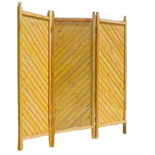 Sichtschutz Holz Paravent Gent 3-teilig