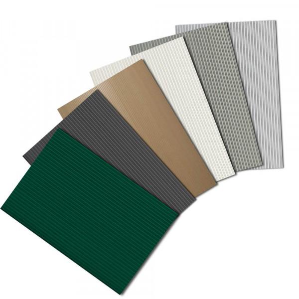 Hart-PVC Sichtschutzstreifen - Musterzuschnitte