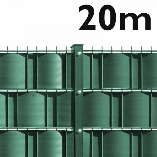 20m Doppelstabmattenzaun Set - schwere Ausführung