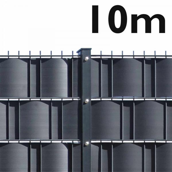 Gittermattenzaun Set - 10m schwere Ausführung