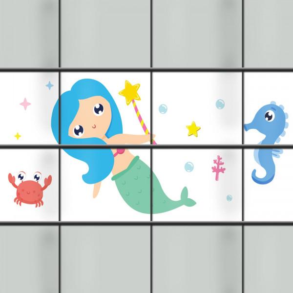 Zaunmotiv mit Unterwassr-Motiv Ocean Kids ideal für Kitas und Spielplätze