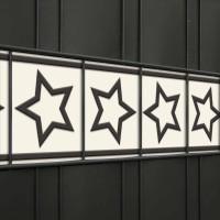 Zaunblendenstreifen mit Sternenband-Muster