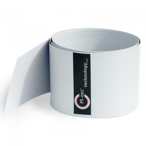 Hart-PVC Sichtschutzstreifen Weiß - 19cm Höhe