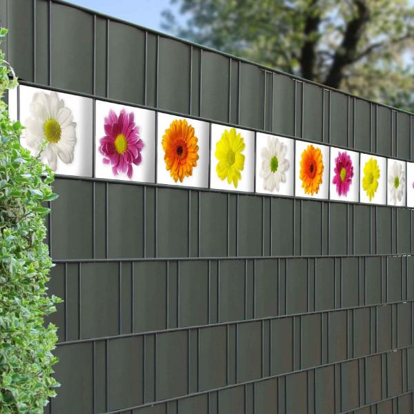 Bedruckte Kreativstreifen Motiv Blüten im Zaun