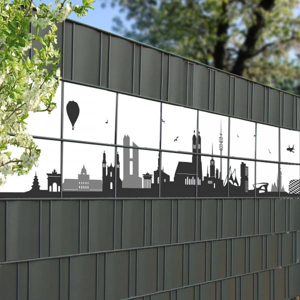 Bedruckte Kreativstreifen Motiv München Skyline Beispiel