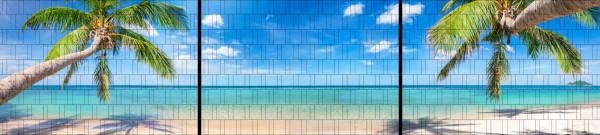 XXL Panorama Zaunposter Sichtschutz Motiv Tropischer Strand