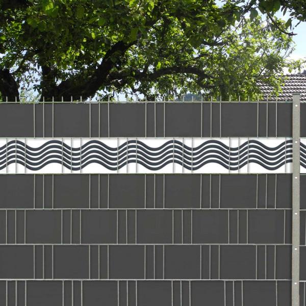 Sichtschutz mit Deko Streifen Welle / Wave