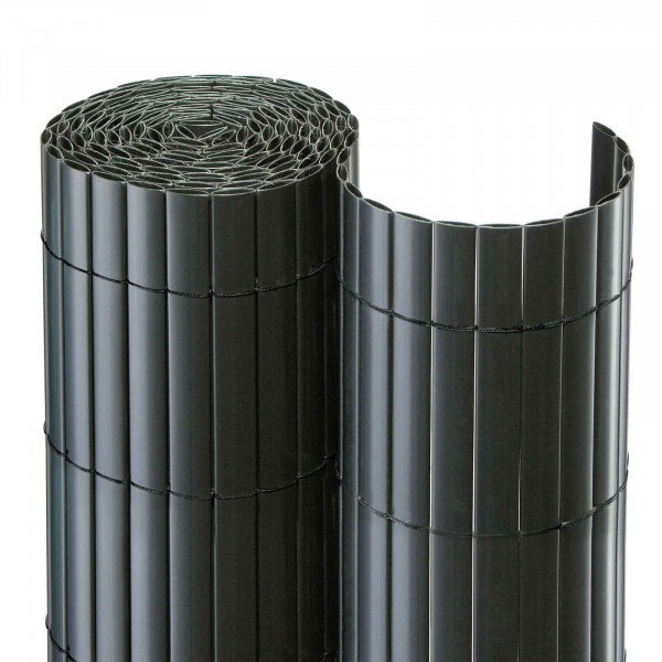 Gartensichtschutzmatte in anthrazit aus PVC
