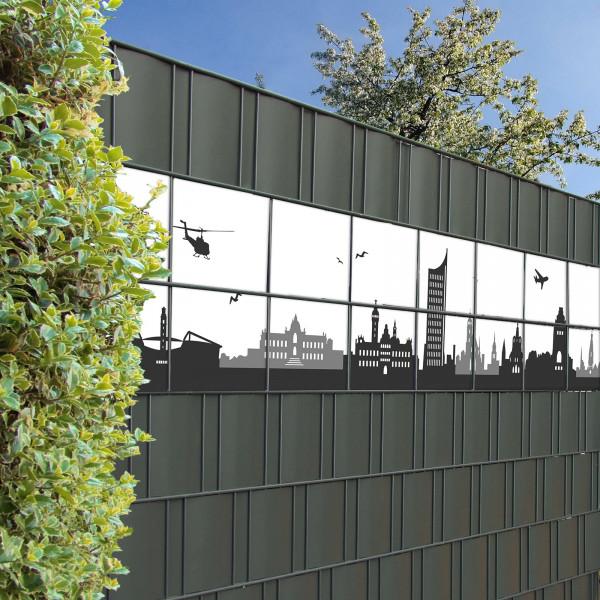 Bedruckte Kreativstreifen Motiv Leipzig Skyline , Beispiel
