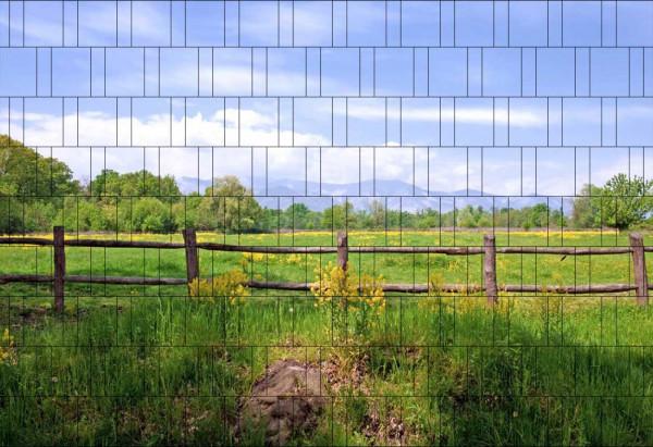 Bedruckter Zaun Sichtschutz Motiv Weidenzaun