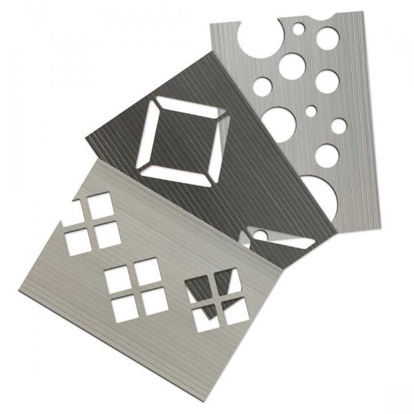 Dekor Hart-PVC Sichtschutzstreifen - Musterzuschnitte