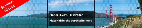 Sonderaktion XXL Panorama Zaunposter - 160cm Höhe