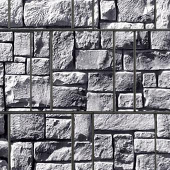 PES Sichtschutzstreifen Motiv Steinlabyrinth Detailansicht