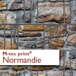 M-tec print® Weich-PVC - Steinmauer Normandie 3 oder 9 Streifen