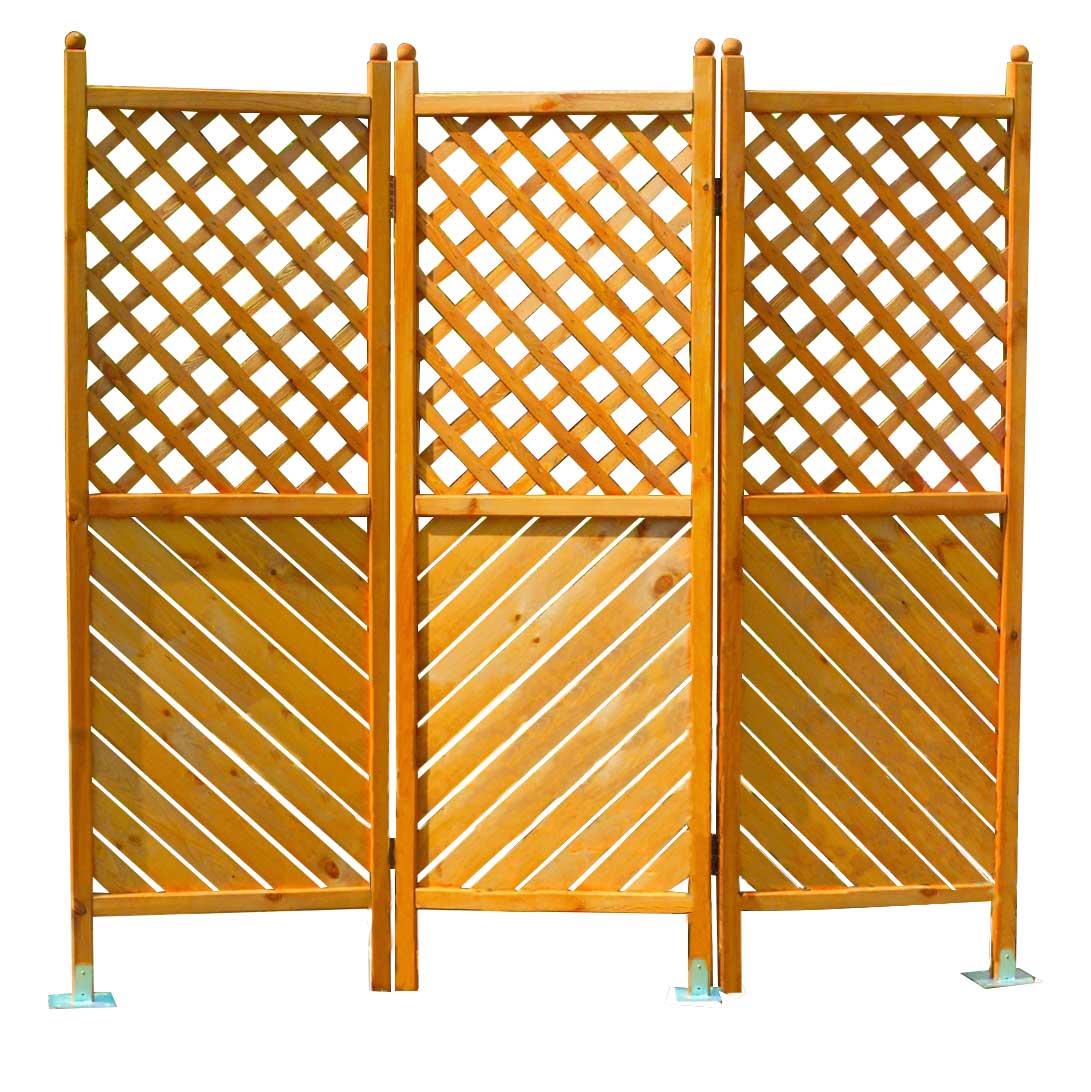 Sichtschutz Holz Paravent Romantica 3 Teilig Gunstig Kaufen
