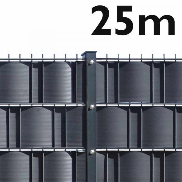 Doppelstabmattenzaun Set - 25m - schwere Ausführung