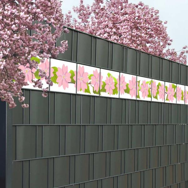 Bedruckte Kreativstreifen Motiv Kirschblüte Beispiel