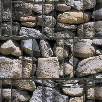 PES Sichtschutzstreifen Motiv Feldstein Algarve Detailansicht