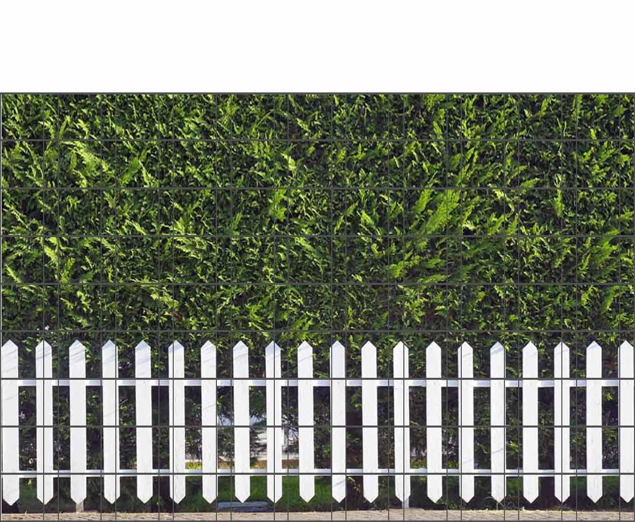 Bedruckter Zaun Sichtschutz Motiv Weisser Zaun Sichtschutz Shop