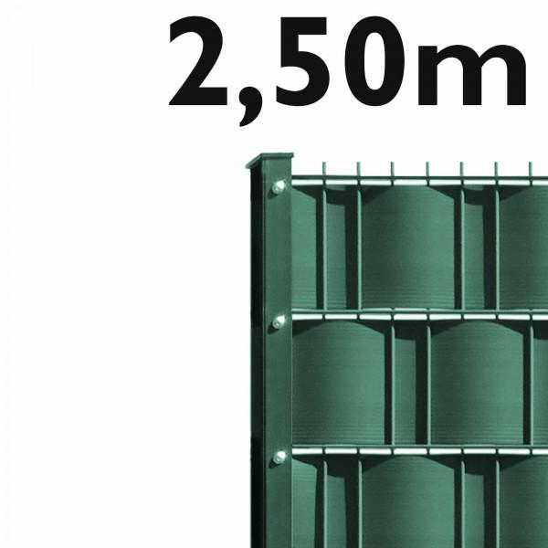 M-tec Sichtschutz Doppelstabmattenzaun Komplett-Set Grün - 2,50m