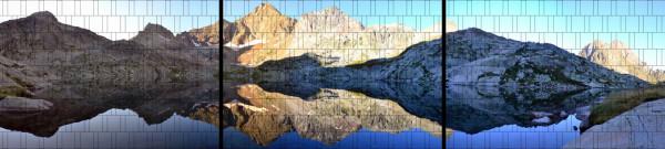 XXL Panorama Zaunposter Sichtschutz Motiv Hochgebirge