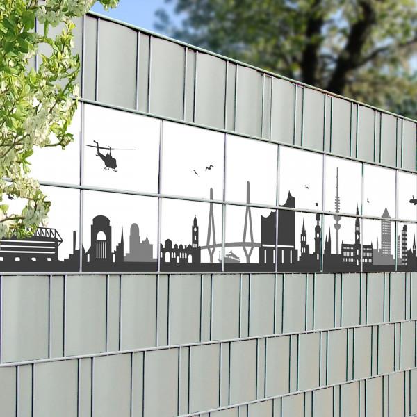 Bedruckte Kreativstreifen Motiv Hamburg Skyline Detail