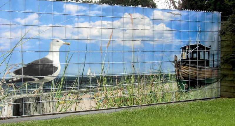 Bedruckter Sichtschutz für Zaun und Garten