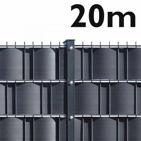 Gittermattenzaun Set- 20 m leichte Ausführung