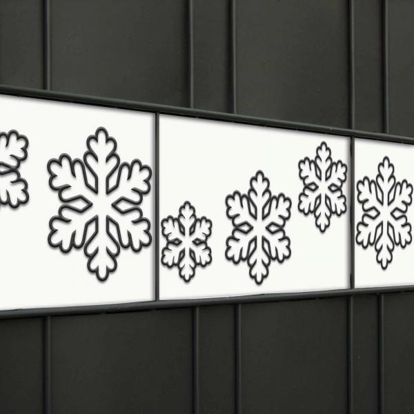 Zaunblendenstreifen mit Schneeflocken-Muster