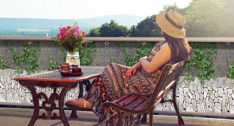 Sichtschutz am Balkon