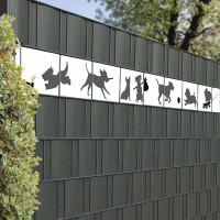 Bedruckte Kreativstreifen Motiv Hunde im Garten, Beispiel