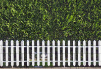 Bedruckter Zaun Sichtschutz Motiv Weisser Zaun