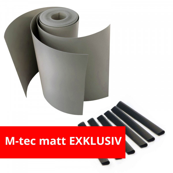 M-tec matt Exklusiv Komfort Pack steingrau inklusive Klemmschienen schwarz