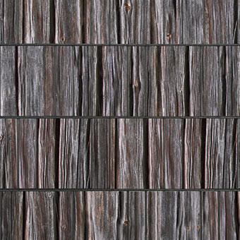 PES Sichtschutzstreifen Motiv Holzbohle Detailansicht