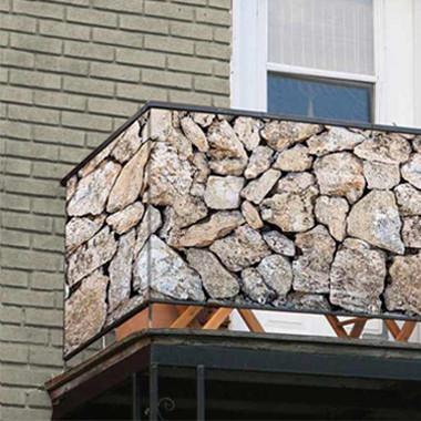 Balkonsichtschutz Stein Motive