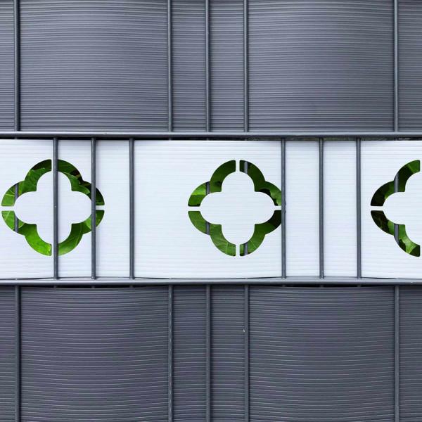 Dekorative Hart-PVC Sichtschutzstreifen