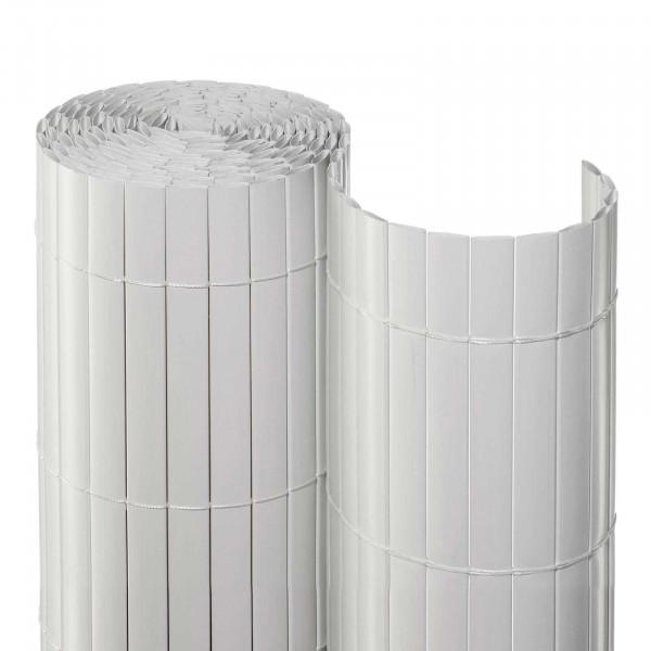 Balkonsichtschutzmatte Kunststoff Weiß als Rolle