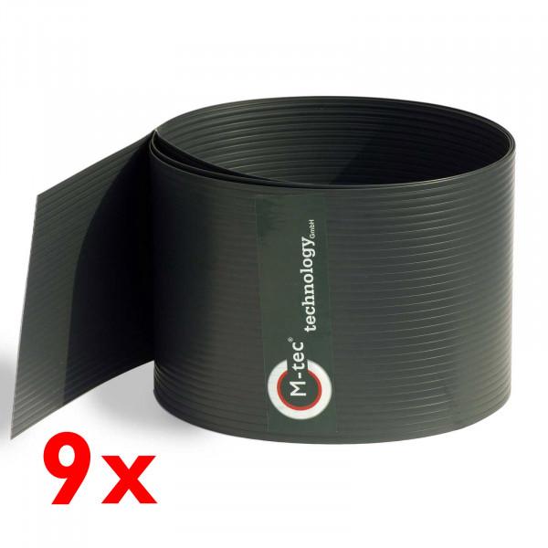Hart-PVC Sichtschutz in Anthrazit im 9-Streifen-Set