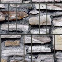 PES Sichtschutzstreifen Motiv Marmormauer Detailansicht