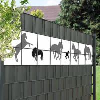 Sichtschutzzaun mit Pferde Motiv