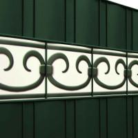 Design Zaunstreifen Motiv Prag Farbkombination Weiß und Mossgrün