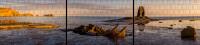 XXL Panorama Zaunposter Sichtschutz Motiv Schiffswrack