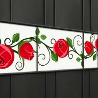 Weich PVC Sichtschutzstreifen mit Rosen-Motiv