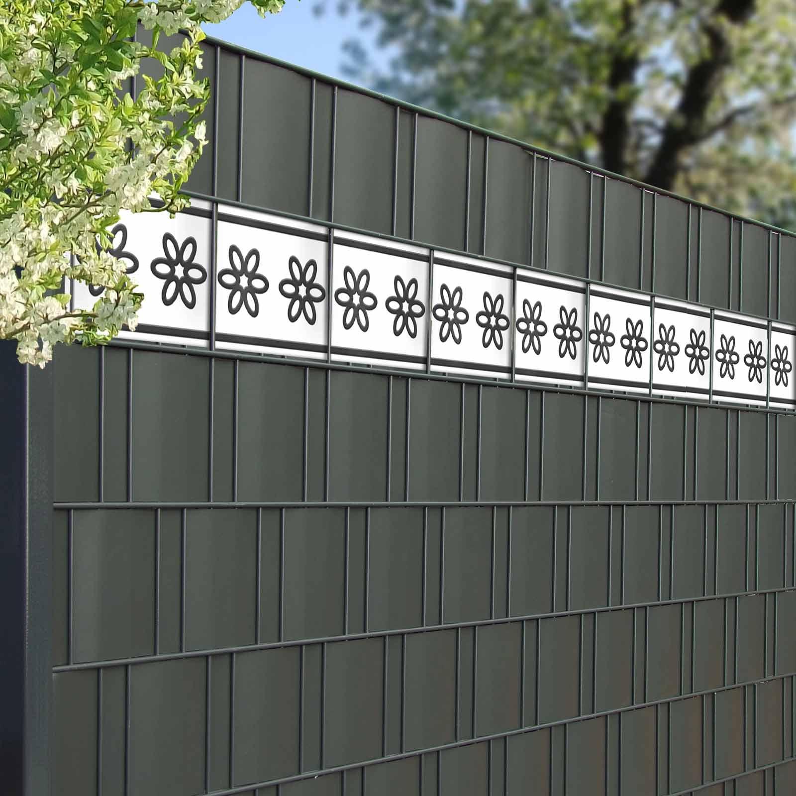 Design Sichtschutzstreifen Fur Gitterzaun Motiv Flora Gunstig