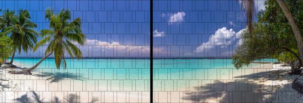 Panorama Zaun-Sichtschutz Motiv Palmenstrand