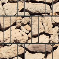 PES Sichtschutzstreifen Motiv Sandstein Ibiza Detailansicht