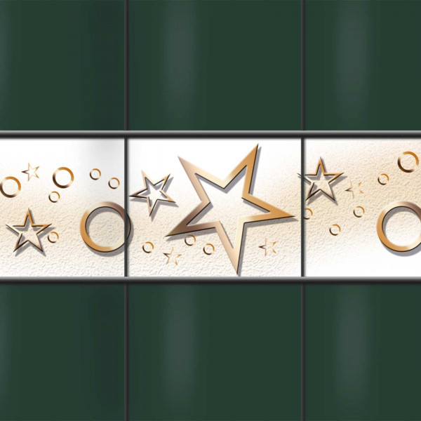 Weich PVC Sichtschutz Streifen Sterne