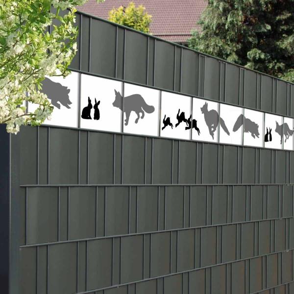 Bedruckte Kreativstreifen Motiv Fuchs & Hase, Detail