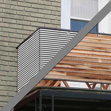 Balkonsichtschutz Holz Metall Motive